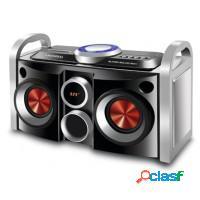 Mini system mondial partybox usb/sd/aux e rádio f