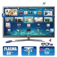 Smart tv 3d plasma 64 samsung full hd usb hdmi con