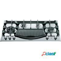 Fogão a gás cooktop com grill inox 4 bocas