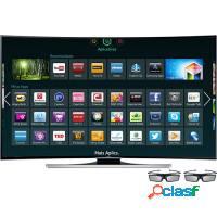 Smart tv 3d led 55 4k ultra hd curve interaction p