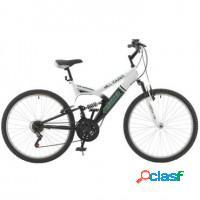 Bicicleta aro 26 branco/verde - 21 marchas