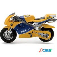 Mini moto brinquedão racing - amarela - bull kids