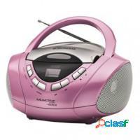 Radio cd player portatil mondial - rosa