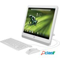 Computador all in one hp quad core 8gb tela touch