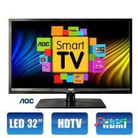 Smart tv aoc 32 led conversor digital hmdi usb int