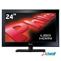 Tv monitor led 24 philco hd hdmi vga conversor dig