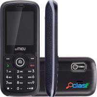 Celular 2 chips câmera vga, rádio fm, mp3, blue