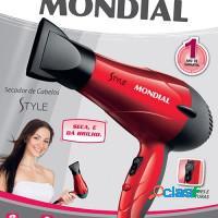 Secador de cabelos mondial 1200w vermelho
