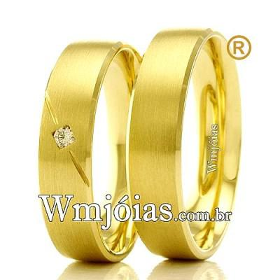 Aliancas em ouro 18k wm2334