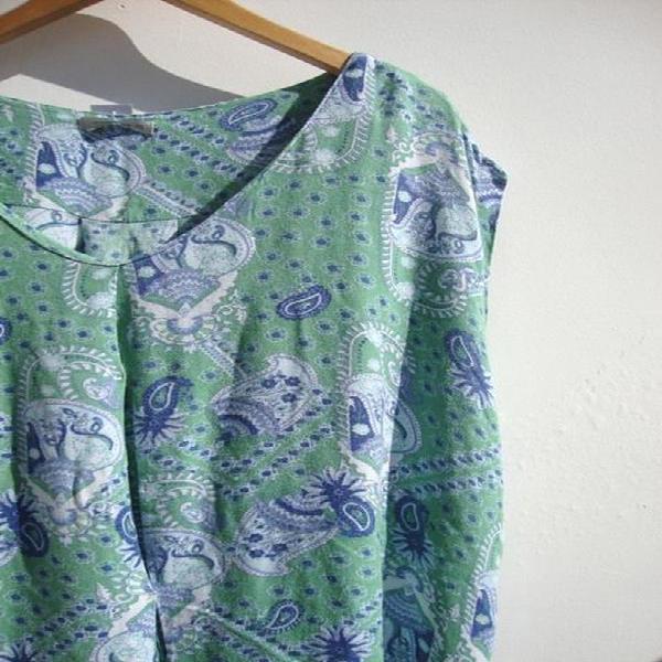 Blusa estampa cashmere luigi bertolli - gg ggg