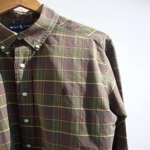 Camisa xadrez ralph lauren - g