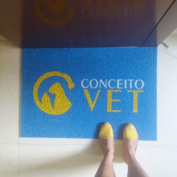 Capacho sua logo - conceito vet fp 90x60cm