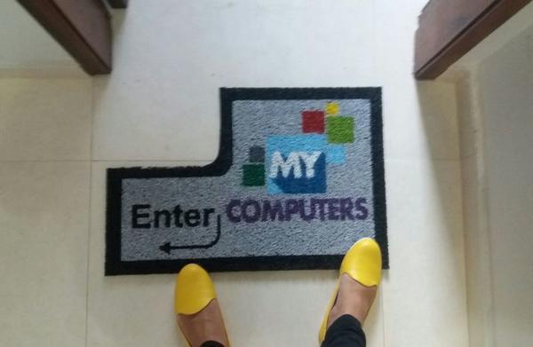 Capacho sua logo - my computers fp corte especial