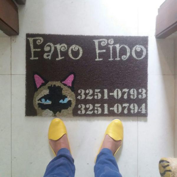 Capacho sua logo - pet shop's e cuidadores