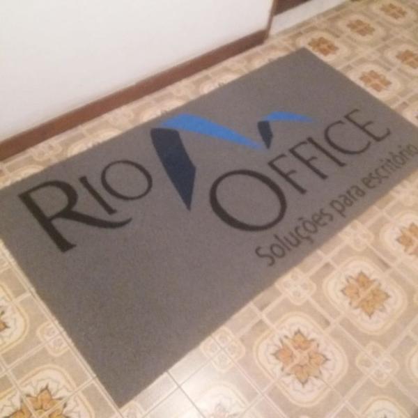 Capacho sua logo - rio office fp 1.60x0.80mt