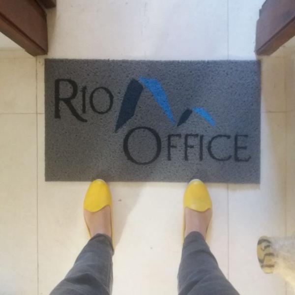 Capacho sua logo - rio office fp 80x40cm