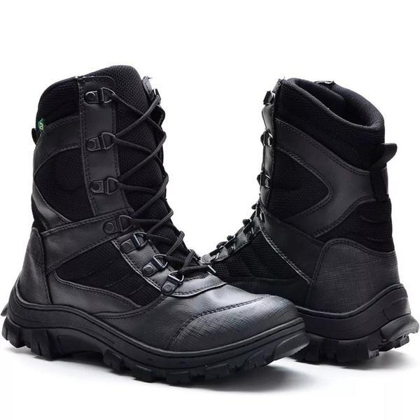 Coturno militar bota tatica masculina policial