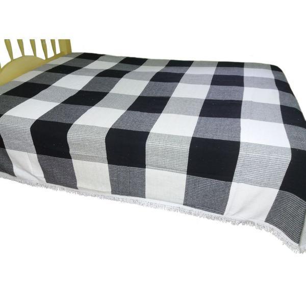 Manta colcha para cama de casal grossa feita artesanalmente