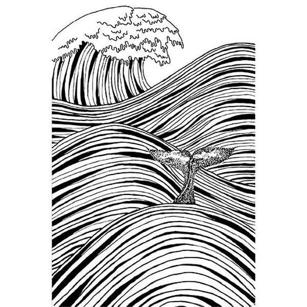 Mar em linhas