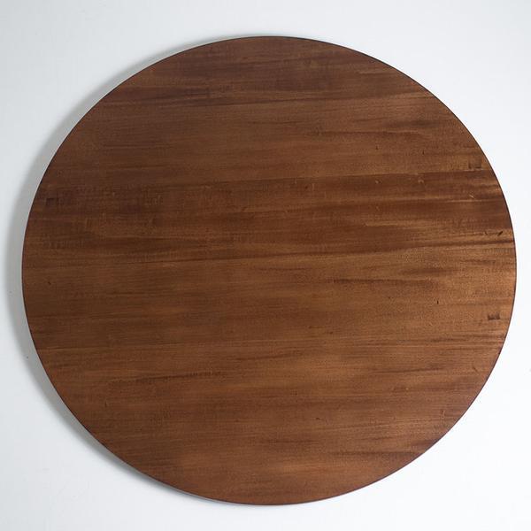 Prato giratório madeira para mesa de jantar castanho 80 cm