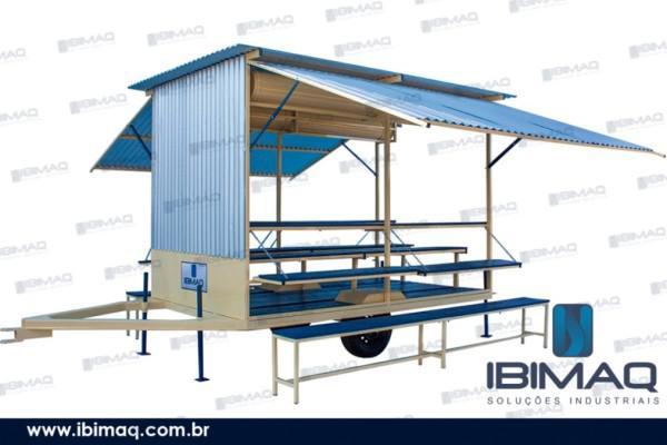 Rea de vivência/refeitório móvel/carreta abrigo