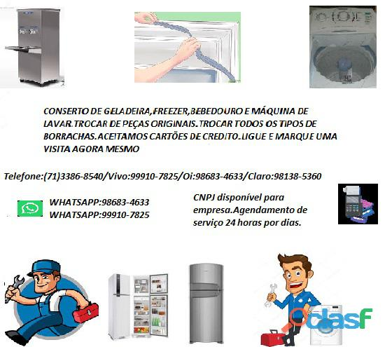 Refrigeração conserto de geladeira,freezer e etc...bahia