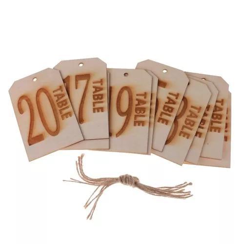 10 pçs / definir de madeira vintage enforcamento etiqueta