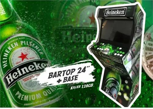 Bartop 24 Pol + Killer 128gb + Base Malvadeza