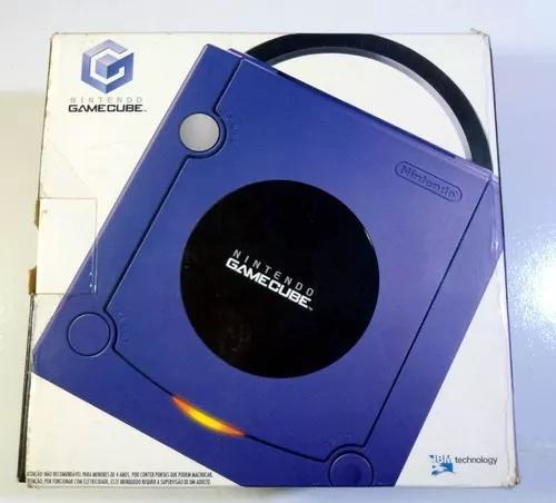 Caixa vazia vídeo game game cube azul original