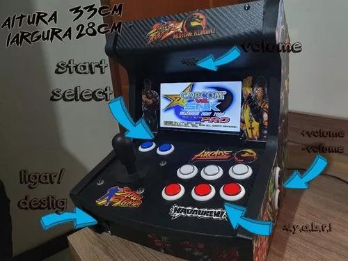 Fliperama arcade bartop multijogos