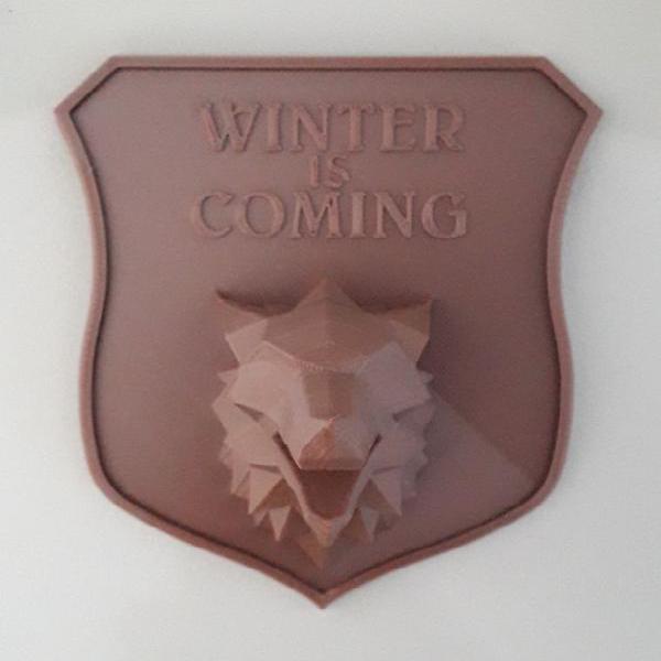 Imã de geladeira winter is coming