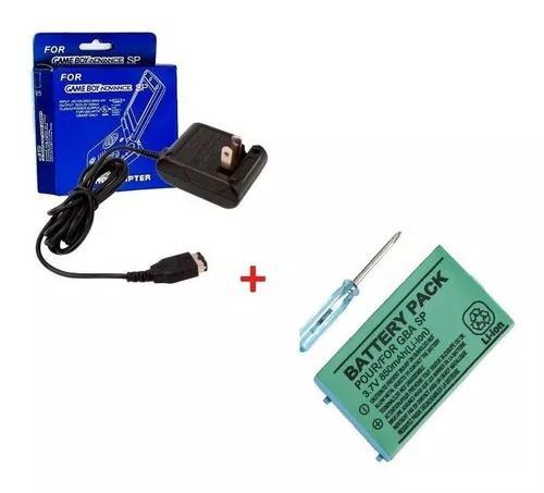 Kit bateria e carregador bivolt para game boy advance c/ nf