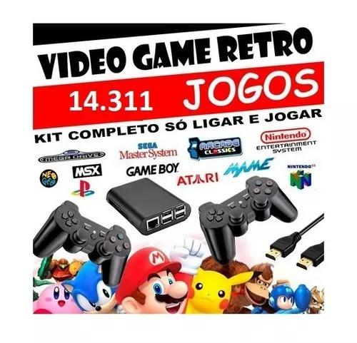 Kit game raspberry pi 3 - 128 gb recalbox 6.0 14.300 jogos