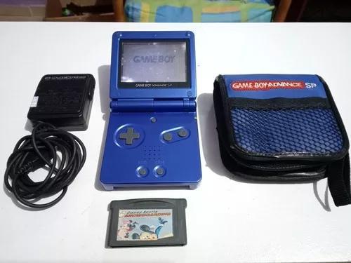 Nintendo game boy advanced sp ags001 + carreg capa cartucho