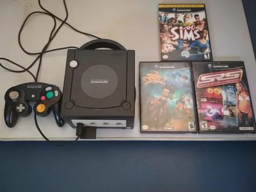 Nintendo gamecube com 3 jogos originais