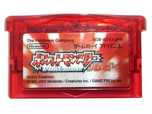 Pokémon ruby original nintendo game boy advance
