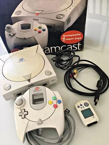 Videogame sega dreamcast completo original vmu caixa e jogo