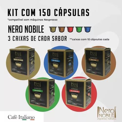 150 cápsulas de café compatíveis nespresso -di nero