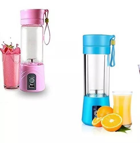 2x mini liquidificador portátil shake juice cup + cabo usb