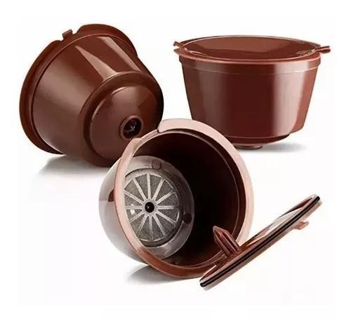 5 capsulas dolce gusto reutilizável marrom refil filtro