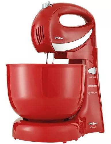 Batedeira philco paris vermelha 350w 127v