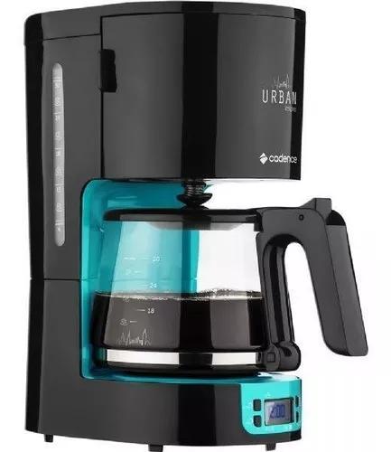 Cafeteira cadence urban inspire preta e azul, caf700