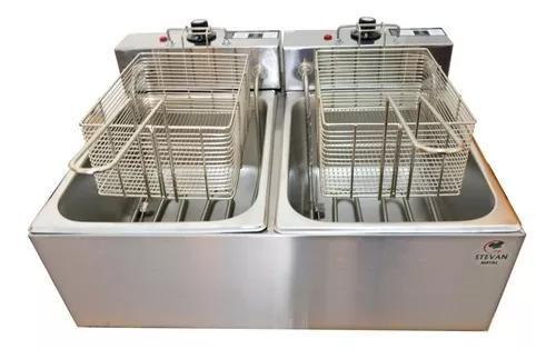 Frtiadeira 2 cubas novas elétrica 12 litros 220v + garantia