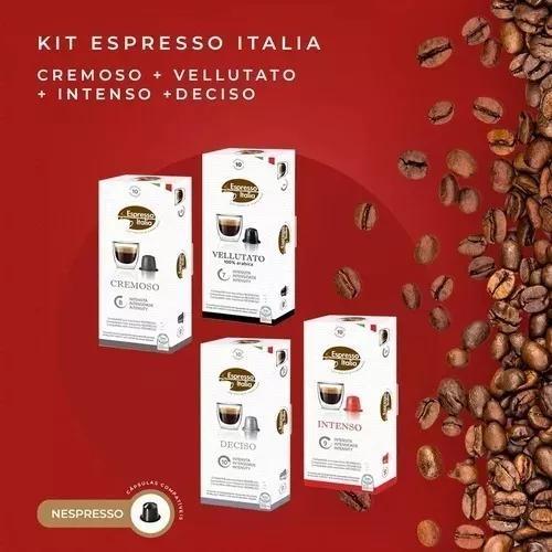 Kit 120 capsulas compativeis nespresso/ café espresso