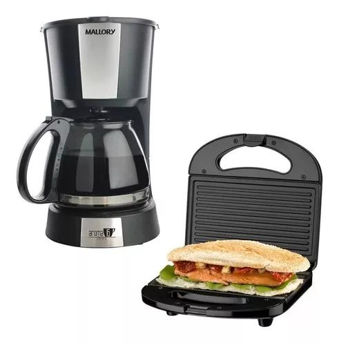 Kit cafeteira aroma 16 cafés + sanduicheira grill cadence