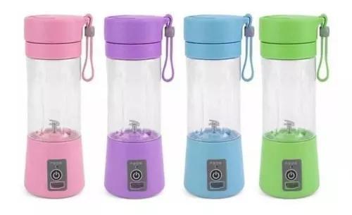 Mini liquidificador portátil recarregável copo usb garrafa