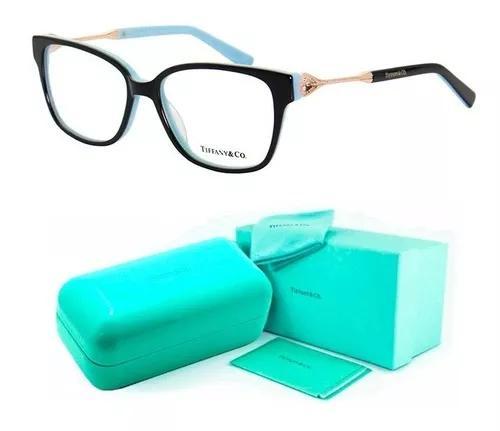 Armação de grau tiffany & co. tf2324 oculos acetato + kit