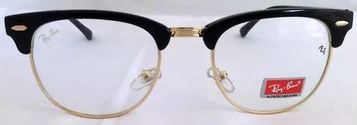 Armação de óculos estilo ray ban clubmaster para grau