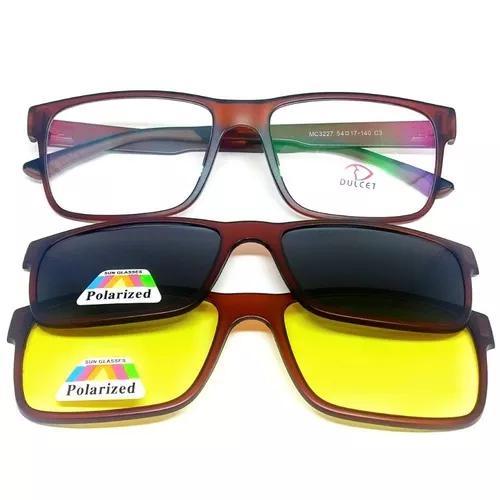 Armação de óculos p/ grau clip on 3