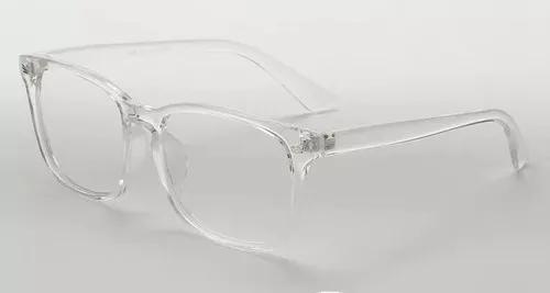 Armação de óculos transparente fashion + brinde case